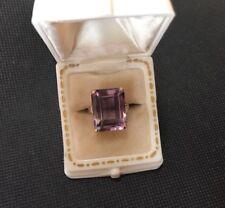 Antique 14K Art Deco 12 Carat Amethyst Ring