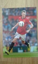 Johnny Evans Man United  Genuine  Hand Signed 7x5 bordered photo Autograph