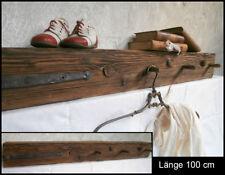 UNIKAT Antikholz Balken Regal Board Garderobe Schmiedeeisen Haken   (05-8