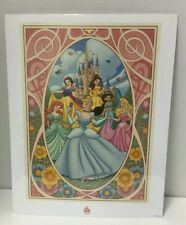 Disney Princess 11x14 Art Print Six Princesses