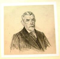 EDWARDIAN SMALL PORTRAITS GENTLEMAN WITH SMUTS BEARD  PENCIL HAROLD SPARKS C1910