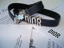 Dior  Parfums bracelet accessory clover  charm wrap two loop  leather VIP gift