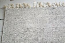 100% Cotton woven rugs 2 sizes. Large sizes, Heather Grey Turquoise Ivory Denim