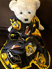 Iowa Hawkeyes Fleece Baby Blanket/Hawkeyes Baby Blanket/Iowa Hawkeyes Fleece