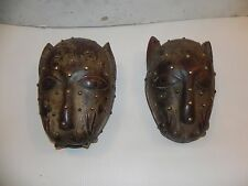 "Arts of Africa - Bamileke Lion Mask Studs / Male / Female - 10"" Height x 7"" Wide"