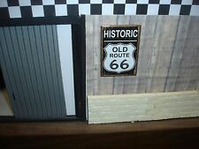 SIGN - HISTORIC OLD ROUTE 66 -  Metal Construction - 1/18 Scale Diorama