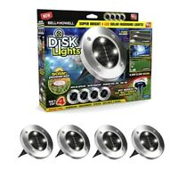 Bell + Howell Disk Lights Solar Weatherproof LED Outdoor, As Seen on TV 4 PACK
