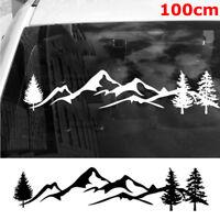 100cm New SUV RV  Offroad Camper  Car Sticker Tree Mountain Auto Decal Car Decor