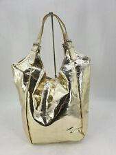 Hingucker Shopper Italy Style XXL GOLD Metallic ECHTLEDER Schultertasche