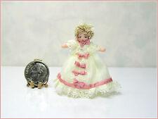 Dollhouse Miniature VICTORIAN CHRISTENING BABY Angel Children Doll, Ethel Hicks