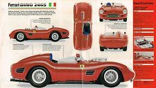 1959/1960 Ferrari DINO 246S Racing SPEC SHEET/Brochure