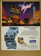1985 videx MacVegas Apple Macintosh gambling game screenshots vintage print Ad