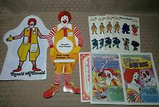 Vintage 90s Mcdonald's Happy Meal Toys Door Hanger Grimace Puppet Stickers Comic