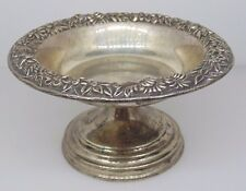 S. KIRK & AND SON INC STERLING SILVER REPOUSSE 408 DISH BOWL COMPOTE RAISED