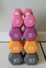 Dumbbell Weight Set of 3 5 8 10lb (52lbs Total) CAP Hex Neoprene FAST SHIPPING