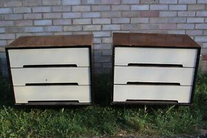 PAIR OF VINTAGE STAG CHEST OIF DRAWERS