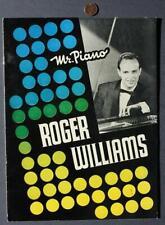 1960s Era Legendary Pop Music Pianist Roger Williams concert program-Vintage!*