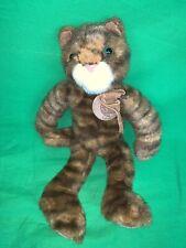 Russ Berrie Stuffed Plush Cat Heartcraft Collection Tabby Kitty Tabatha 12�