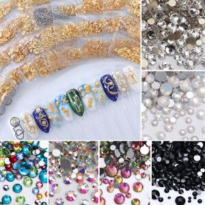 3D Mixte Ongles Briller Cristaux Dos Plat Strass Gems Nail Art  cor