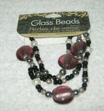 Cousin - Glass Beads - Round Mix Strung Mauve - 75 Pieces - New