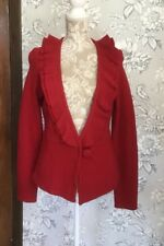 LIGHTWEIGHT UNLINED RED SOFT  WOOL FISHTAIL JACKET BY PRINCIPLES*SIZE 14*