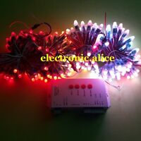 250PCS WS2811 RGB Full Color Pixels 12mm Addressable LED String+T1000S Controlle