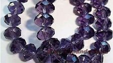 violet,cristal, facettes,pierres précieuses, perles en vrac,100pc,4x6mm