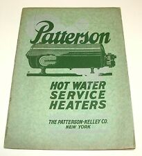 ORIG 1926 PATTERSON HOT WATER HEATERS - PLUMBING APPLIANCE CATALOG