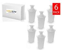 (6) GoldTone Charcoal Water Filters for BRITA and MAVEA - Replacement Filter