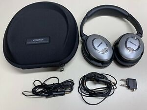 BOSE QUIETCOMFORT 15 HEADPHONES W/ STOW CASE & CABLES SOUND GREAT