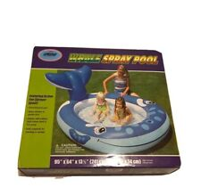 Inflatable Whale Spray Pool Child Toddler Wadding Play Swimming 95�x 64� x 13.5�