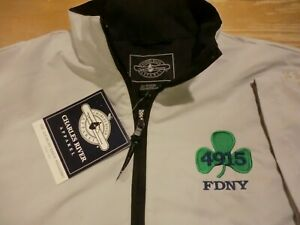 FDNY 4915 Short Sleeve 1/2-Zip Windshirt, NWT - Mens Medium - New York Fire