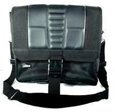 Chrome Black Rigged Nylon Laptop Briefcase Shoulder Messenger Bag