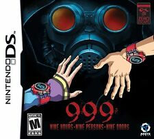 999: 9 Hours, 9 People, 9 Doors [Nintendo DS DSi, Mystery, Puzzle] Brand New