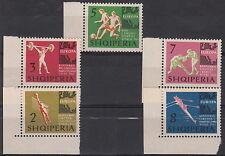 SERIE FRANCOBOLLI 1963 ALBANIA CAMPIONATI EUROPEI CALCIO VOLLEY 641-5 MNH**