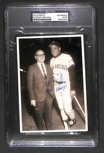 """Willie Mays """"The Say Hey Kid"""" Autographed Signed Vintage 60s Original Photo PSA"""