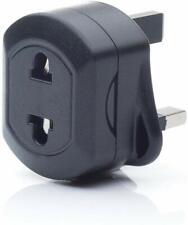 EU 2 Pin To UK 3 Pin Fused Adaptor Plug For Shaver/Toothbrush
