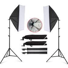 2X135W Softbox Continuous Lighting Kit Set Photo Studio Energy-saving light UK