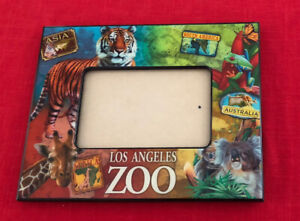 Los Angeles Zoo 11x8 Souvenir Animal Frame Fits 4x6 Photo Tiger Never Used