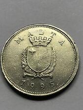 1995 Malta 25 Cents XF+ #4467