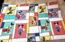 Vintage Disney Chatham Cool Street Mickey Mouse Fleece Blanket Bedding 90s