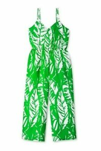 LILLY PULITZER Boom Boom JUMPSUIT Tropical Palm Leaf Green - Size XS - NEW