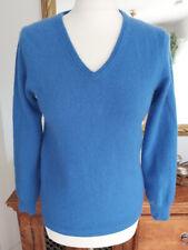Pullover 100% Kaschmir Cashmere blau Gr.36/38 Small