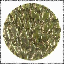 Small Antique French Tight Metal Button - Aurora Borealis Design