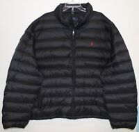 Polo Ralph Lauren Big and Tall Mens XLT Black Packable Down Jacket NWT Size XLT