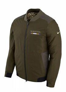 Nike Baltimore Ravens Salute To Service Reversible Bomber Jacket Size L