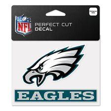 "Philadelphia Eagles 4""x5"" Perfect Cut Decal - NFL Auto Car Emblem Sticker CDG"