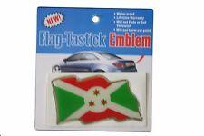 BURUNDI COUNTRY  FLAG BUMPER STICKER FLAG-TASTICK EMBLEM..SIZE: 3.5 X 2 INCH