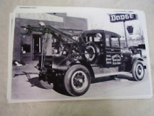 1930 'S DODGE TOW TRUCK IN FRONT OF DEALER  11 X 17  PHOTO  PICTURE