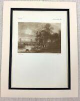 1927 Antico Stampa Rubens Olandese Vecchio Master Pittura Luna Landscape Raro